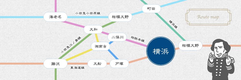横浜市路線図